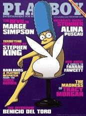 Marge Simpson na Playboy