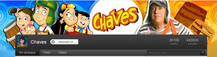 Canal 'Chaves' no YouTube